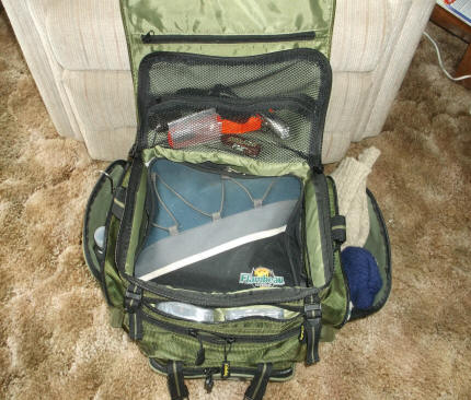 Creating a small for Cabelas fishing backpack