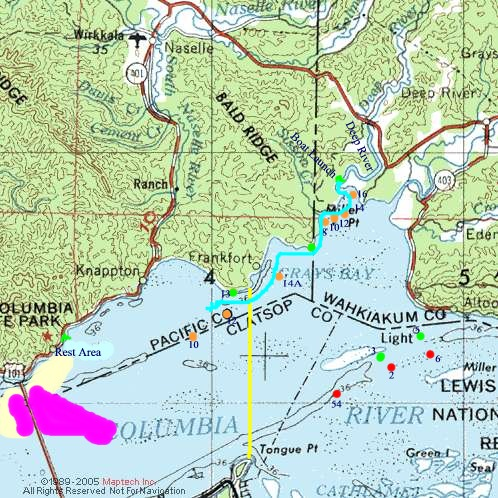 Deep river fall salmon fishery buoy 10 for Columbia river fishing map