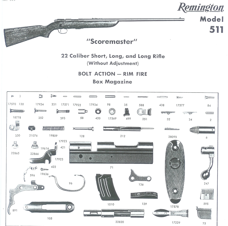 Remington 511 Exploded Views