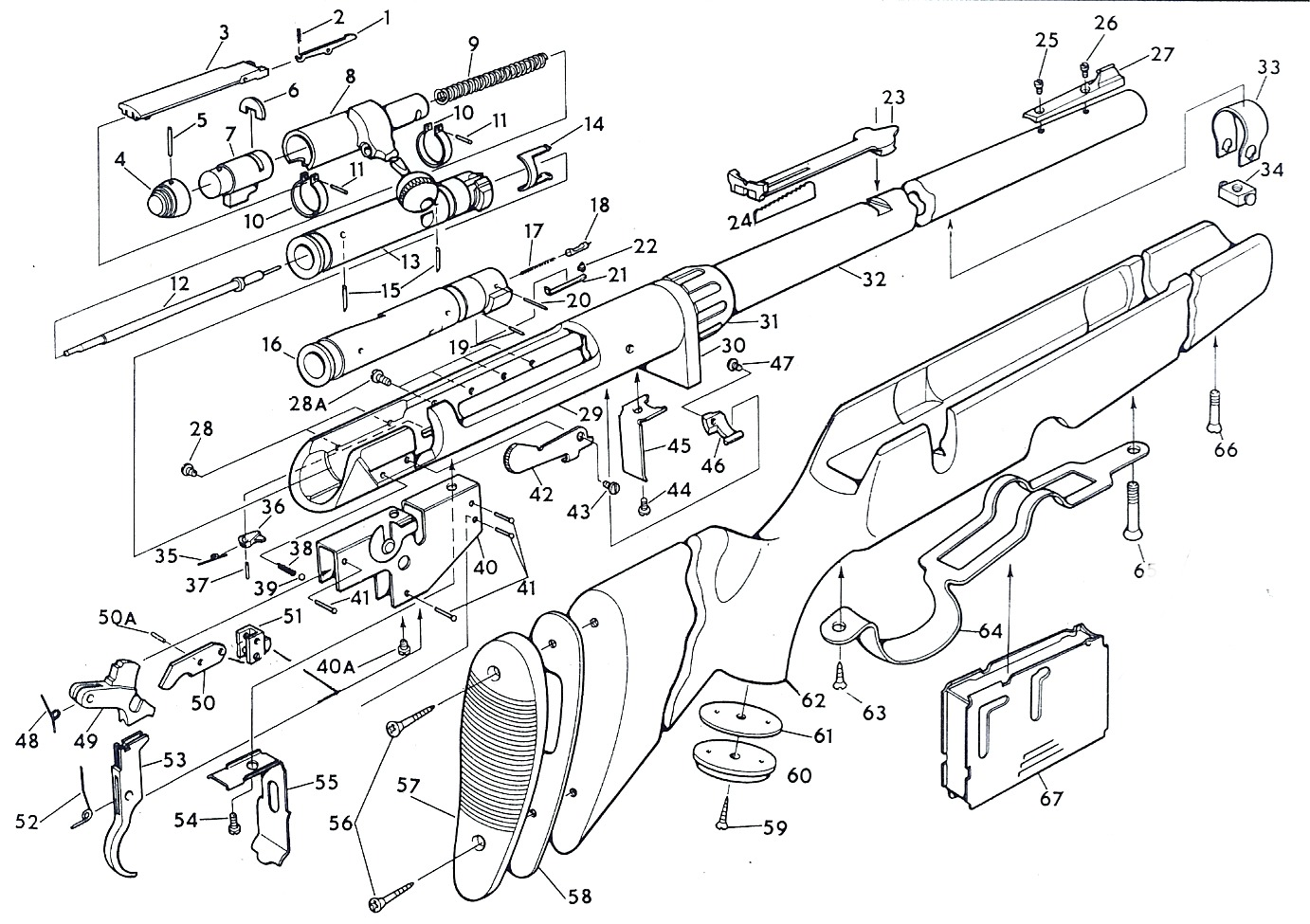 Winchester Model 21 Parts Diagram
