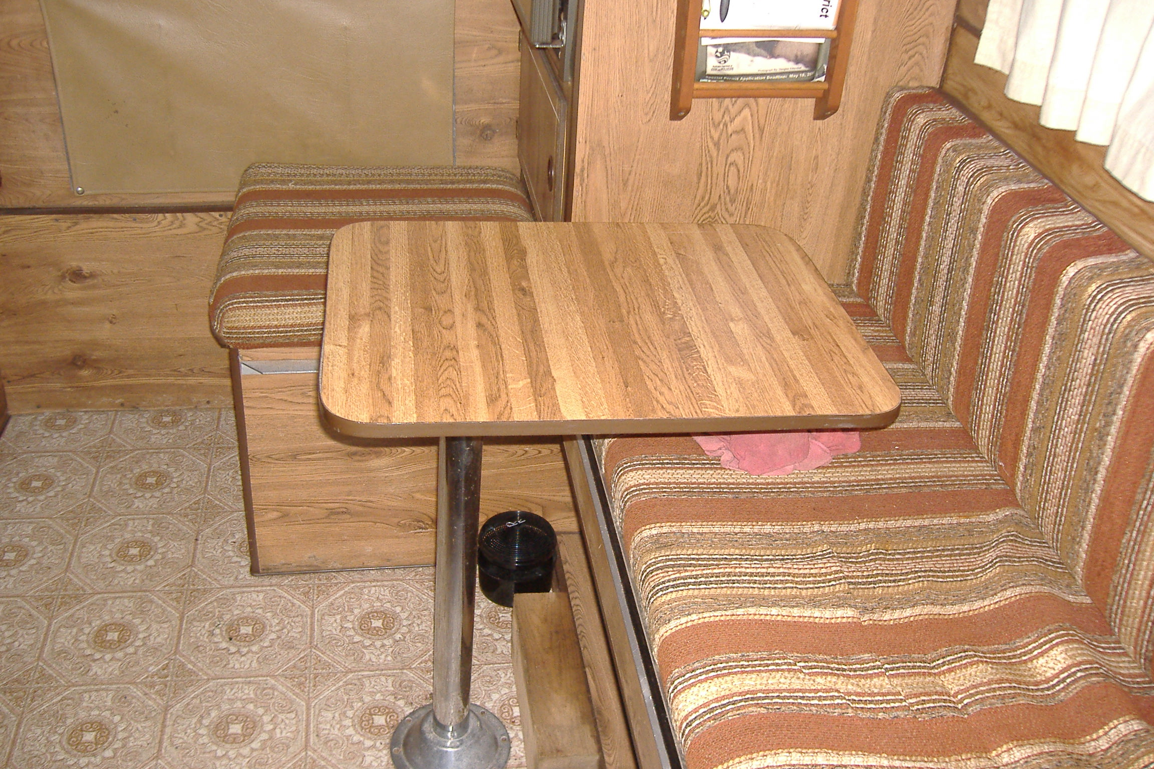 Cool DIY Outdoor Table Fits Between Wheel Well And Tire On Casita Trailer