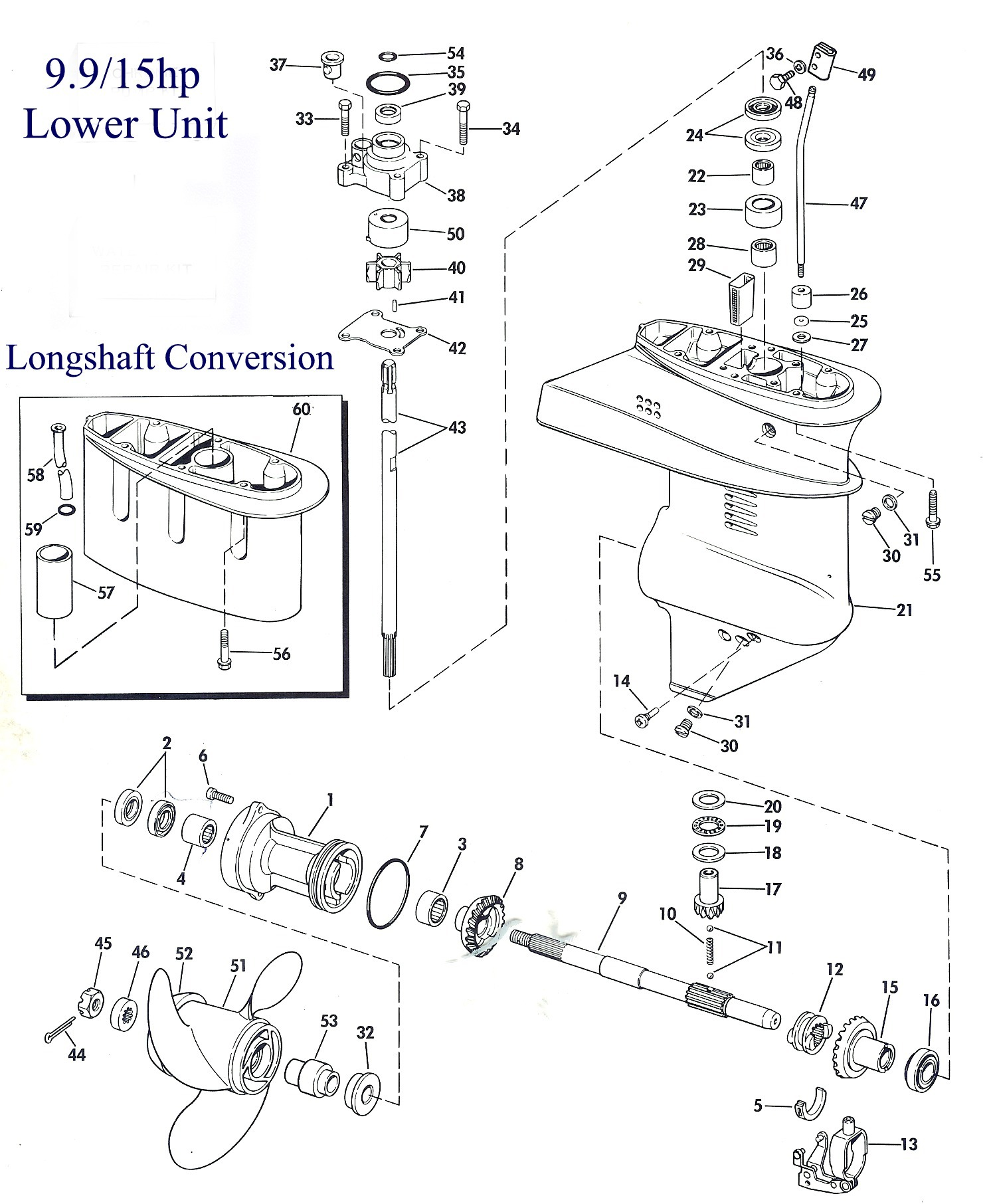 9.9 LU lower unit Johnson Ignition Switch Wiring Diagram at gsmportal.co