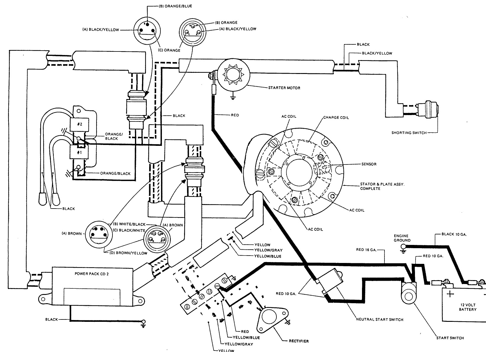 electrical diagram electric maintaining johnson evinrude 9 Fraitliner Diesel Wireing Harness at gsmx.co