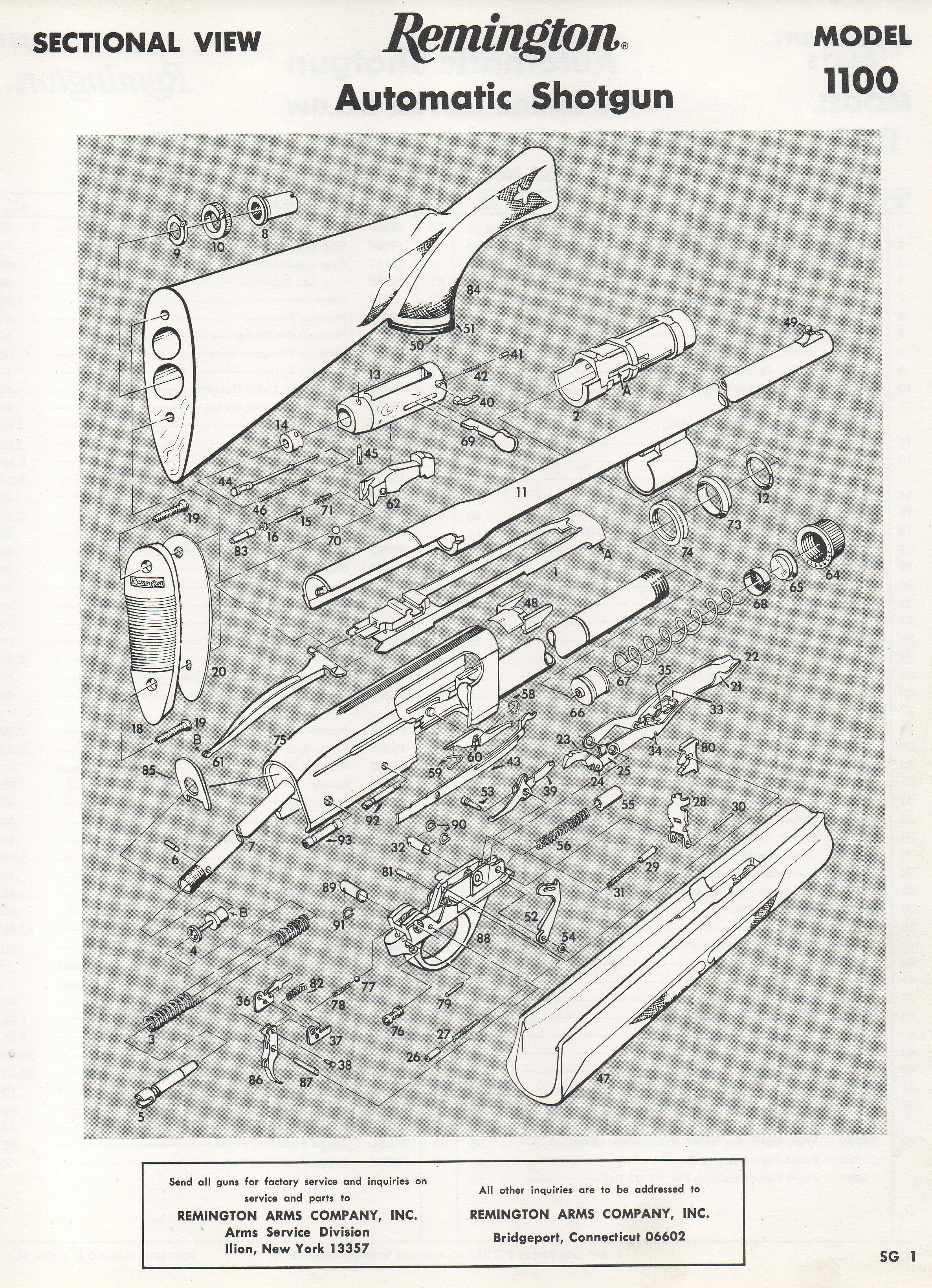 Remington 58 / 1100 / 11-87 Semi