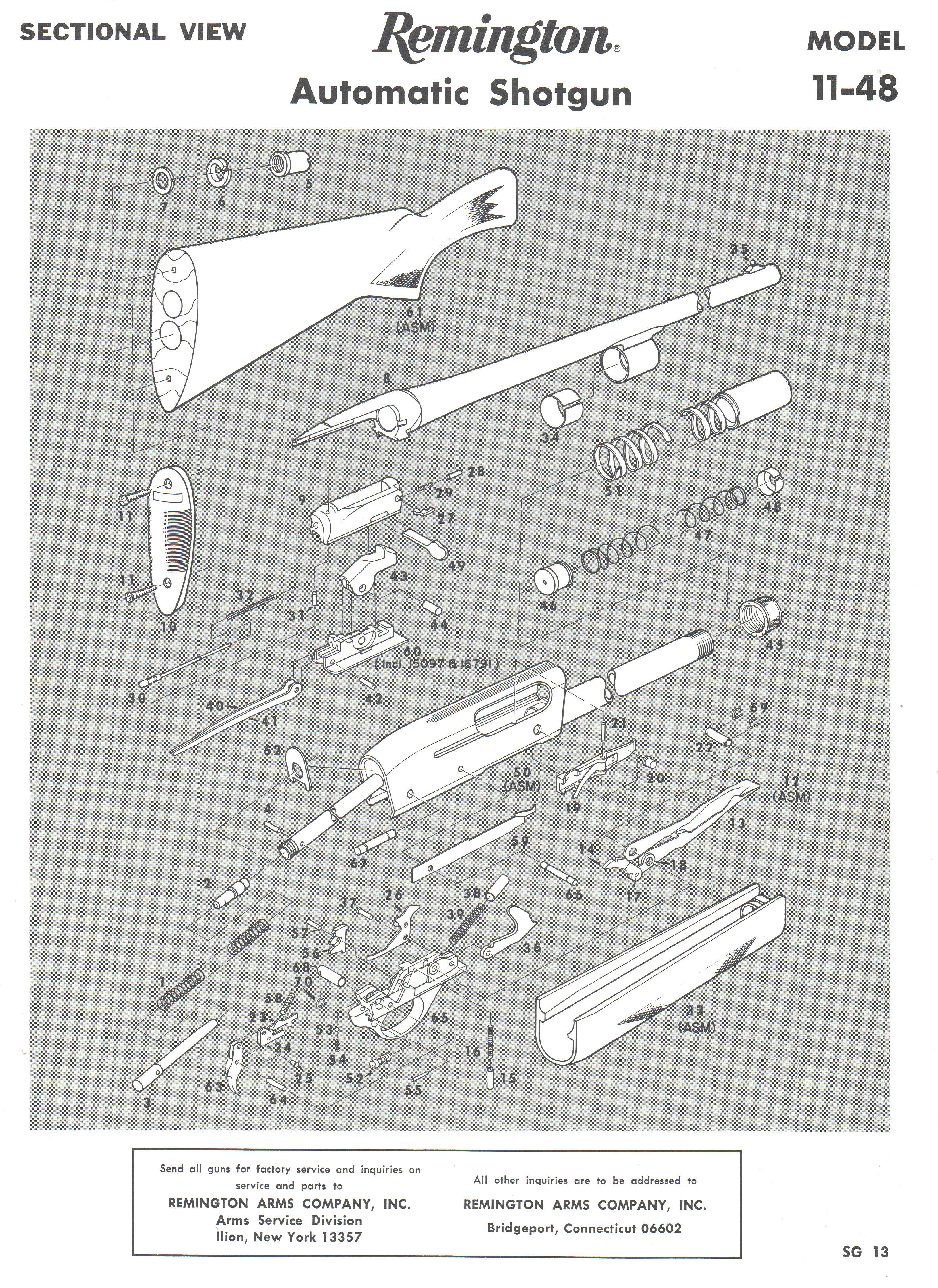 Remington 11 48 Parts Diagram Wiring Libraries 870 Quotes Model 48the Above Illustration U0026 Listing Below Was Taken From 1979