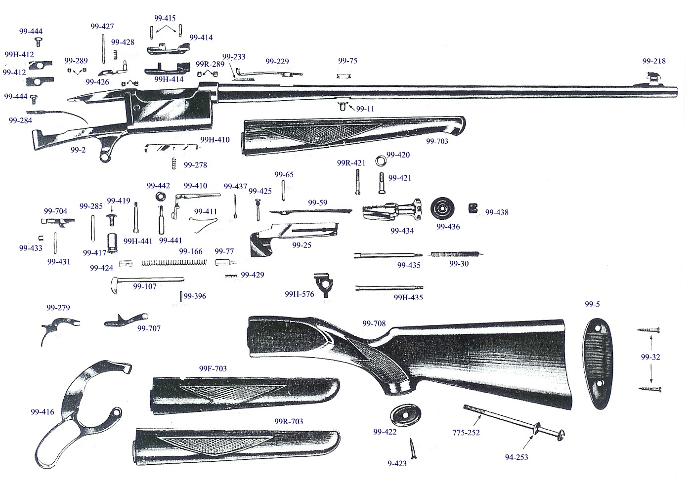 Savage 99 Exploded Views