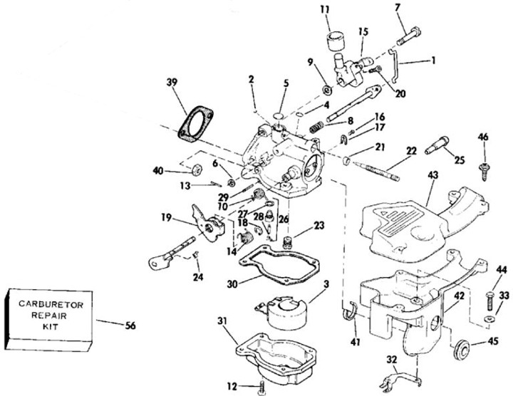 15 hp outboard yamaha carburetor exploded view