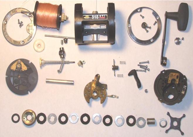 fishing reel maintenancepenn gti 310 disassembled